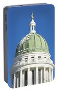 Maine State Capitol Building In Augusta Portable Battery Charger
