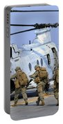 Marines Board A Ch-46e Sea Knight Portable Battery Charger