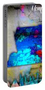 Memphis Map And Skyline Watercolor Portable Battery Charger