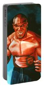 Mike Tyson Portable Battery Charger by Paul Meijering