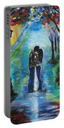 Moonlight Kiss Portable Battery Charger by Leslie Allen