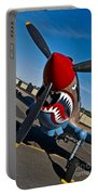 Nose Art On A Curtiss P-40e Warhawk Portable Battery Charger
