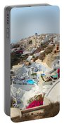 Oia Village Santorini Greece Portable Battery Charger