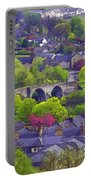 Old Stirling Bridge And Houses As Visible From Stirling Castle Portable Battery Charger