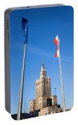 Palace Of Culture And Science In Warsaw Portable Battery Charger
