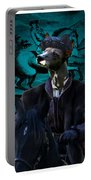 Peruvian Hairless Dog Art Canvas Print Portable Battery Charger