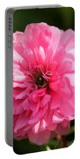 Pink Ranunculus Portable Battery Charger