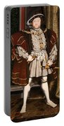 Portrait Of Henry Viii Portable Battery Charger