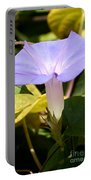 Purple Morning Glory Portable Battery Charger