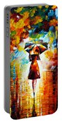 Rain Princess Portable Battery Charger by Leonid Afremov