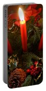 3 Red Candles Portable Battery Charger