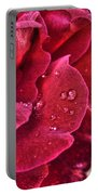 Red Rose And Summer Rain Portable Battery Charger