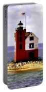 Round Island Lighthouse Straits Of Mackinac Michigan Portable Battery Charger