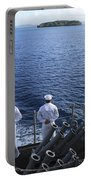 Sailors Man The Rails Aboard Portable Battery Charger
