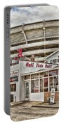 Shadow Of The Stadium Portable Battery Charger by Scott Pellegrin