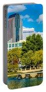 Skyline Of A Modern City - Charlotte North Carolina Usa Portable Battery Charger