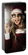 Smart Female Santa Claus With Christmas Idea Portable Battery Charger
