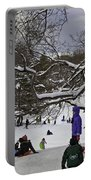 Snowboarding  In Central Park  2011 Portable Battery Charger