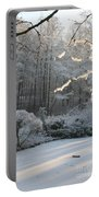 Snowy Trees Landscape Portable Battery Charger