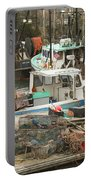 South Bristol And Fishing Boats On The Coast Of Maine Portable Battery Charger