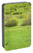 Spring Farm Landscape In Maine Portable Battery Charger