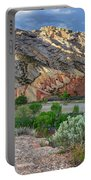 Spring Storm Over Split Mountain Dinosaur National Monument Portable Battery Charger