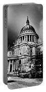St Pauls Cathedral London Art Portable Battery Charger by David Pyatt