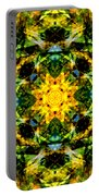 Stained Glass Sun Mandala Portable Battery Charger