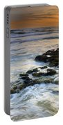 Sunset At The Mediterranean Sea Portable Battery Charger