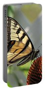 Swallowtail On Coneflower Portable Battery Charger