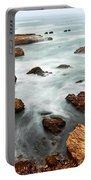 The Jagged Rocks And Cliffs Of Montana De Oro State Park In California Portable Battery Charger