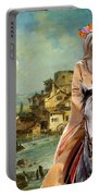 Tibetan Terrier Art Canvas Print Portable Battery Charger
