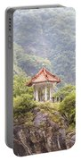 Traditional Pavillion Atop Cliff Portable Battery Charger