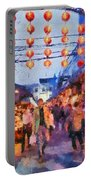 Traditional Shopping Area Portable Battery Charger