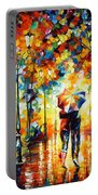 Under One Umbrella Portable Battery Charger by Leonid Afremov