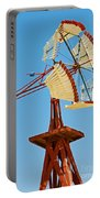 Wind Mills In West Texas Portable Battery Charger
