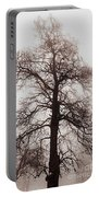 Winter Tree In Fog Portable Battery Charger