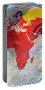 World Map And Barack Obama Stars Portable Battery Charger