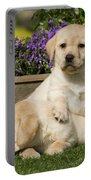 Yellow Labrador Puppies Portable Battery Charger