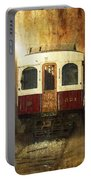 321 Antique Passenger Train Car Textured Portable Battery Charger