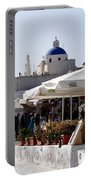Views Of Santorini Greece Portable Battery Charger