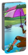 Girl By The Lake Portable Battery Charger
