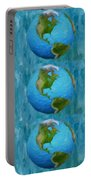 3d Render Of Planet Earth 1 Portable Battery Charger