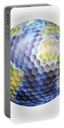 3d Rendering Of A Planet Earth Golf Portable Battery Charger
