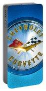 1958 Chevrolet Corvette Emblem Portable Battery Charger
