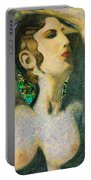Aphrodite And  Cyprus Map Portable Battery Charger