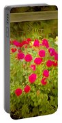 Fence Line Flowers Portable Battery Charger