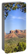 Cathedral Rock Framed By Juniper In Sedona Arizona Portable Battery Charger