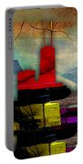 Chicago Skyline Watercolor Portable Battery Charger