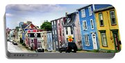 Colorful Houses In St. John's Portable Battery Charger